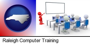 Raleigh, North Carolina - a computer training classroom