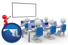 md a computer training classroom