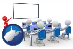 wv map icon and a computer training classroom